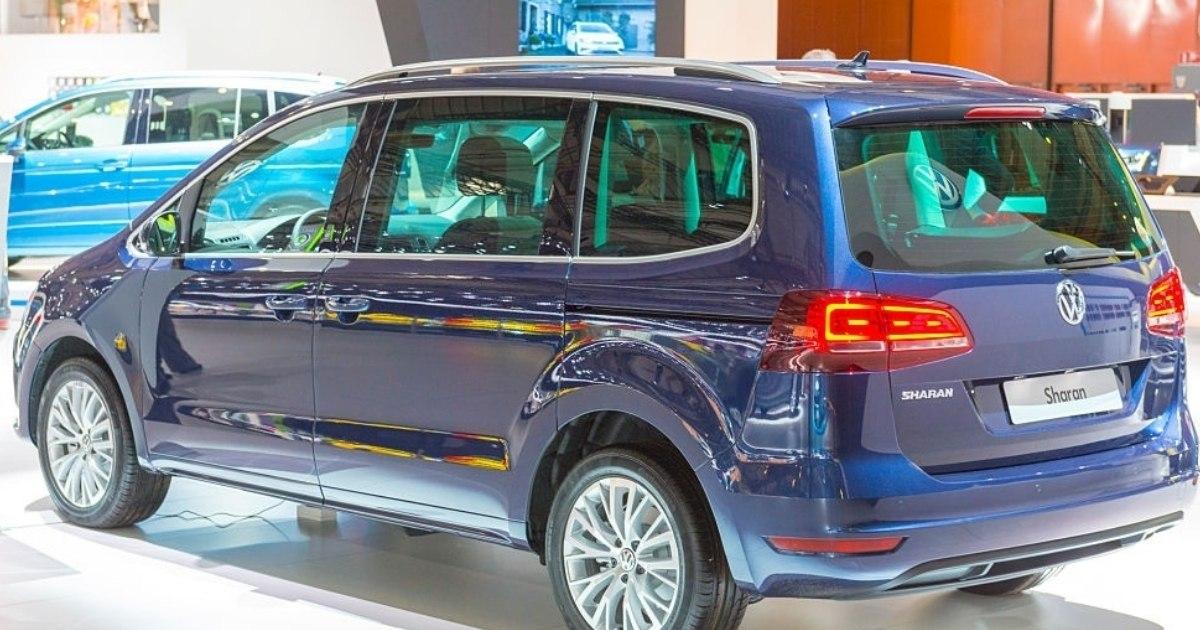 Capacidad de maleterio del carro Volkswagen Sharan