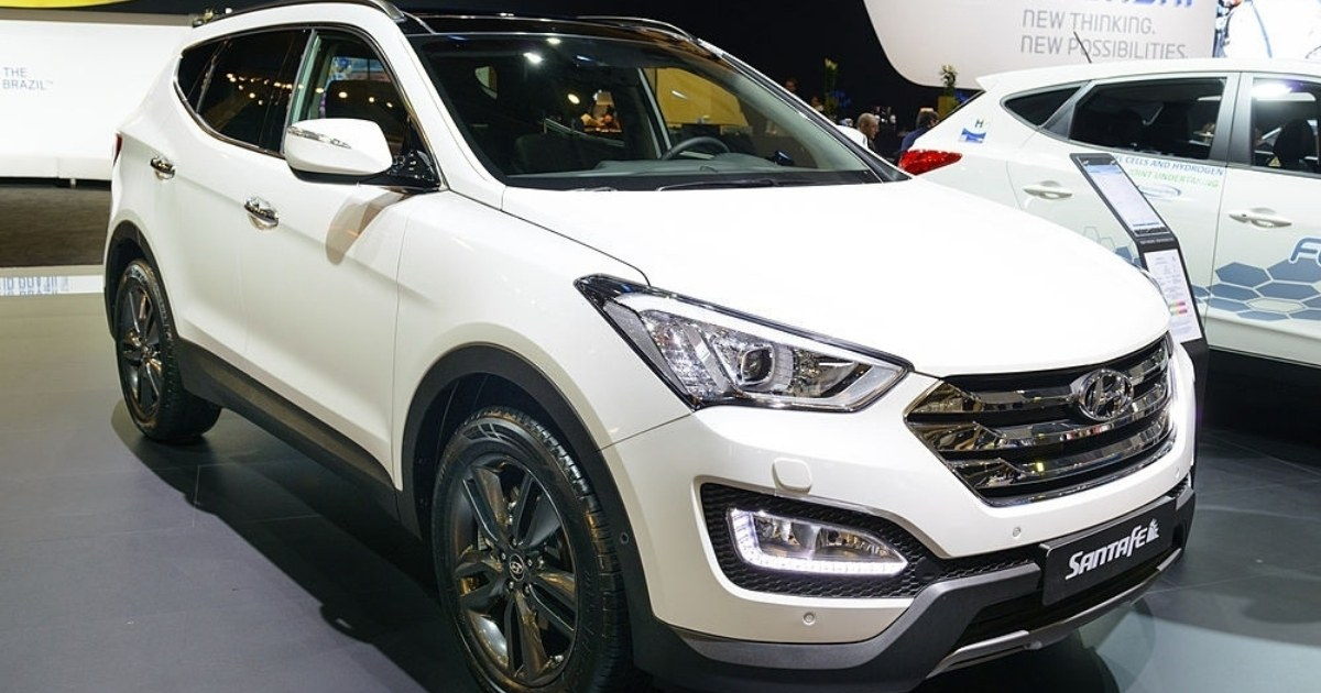 Vista del modelo de vehículos Hyundai Santa Fe